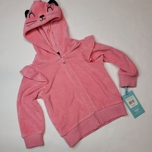 PL BABY Pink Embroidered Zip Up Jacket NWT